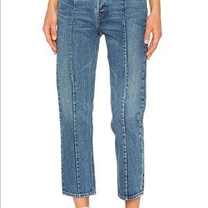 Levi's high waist altered straight blue jeans 28